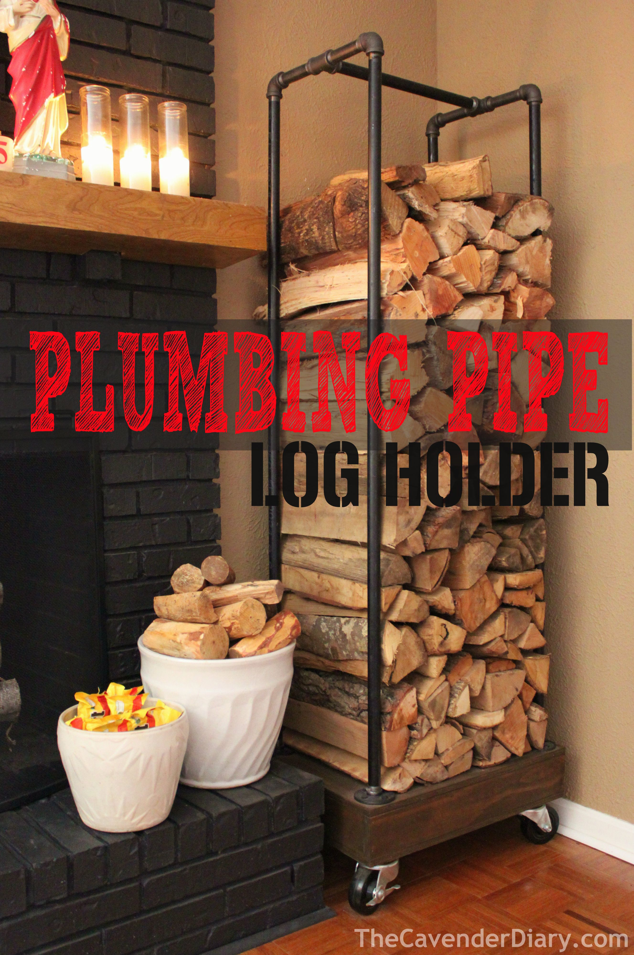 Great Tutorial DIYrollinglogholdermadefromplumbingpipes - Creative firewood storage ideas turning wood beautiful yard decorations