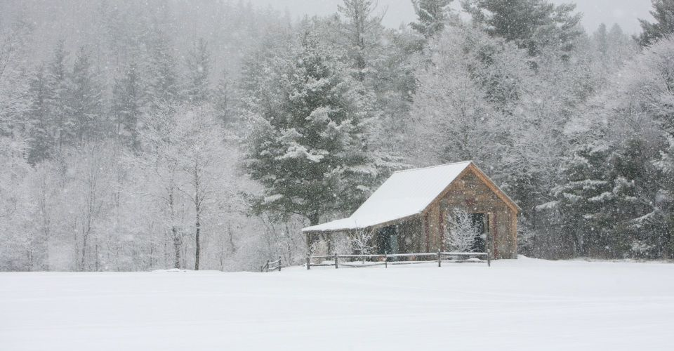 The Garden Barn in Winter