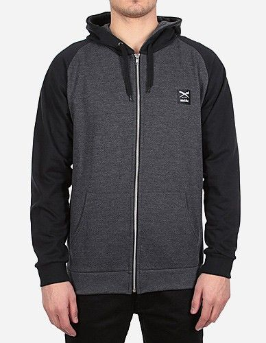 iriedaily - De College Zip Hood black