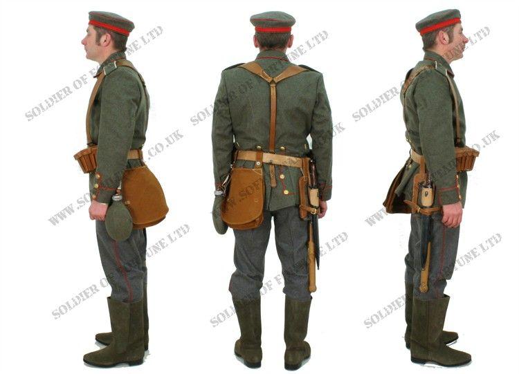 WWI German Infantry Uniform Side und back views | WWI ...