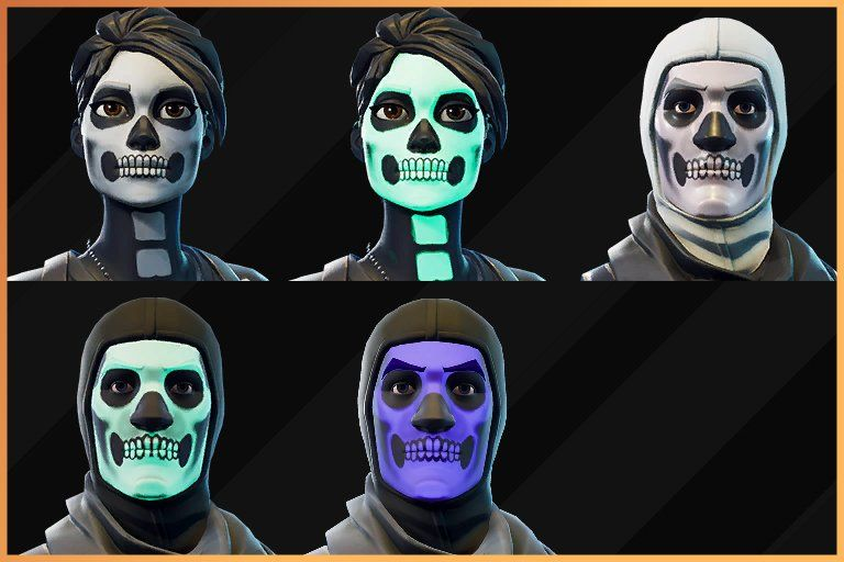 The Unlockable Styles For The Skull Trooper Skull Ranger Minion Coloring Pages Purple Names Halloween Coloring