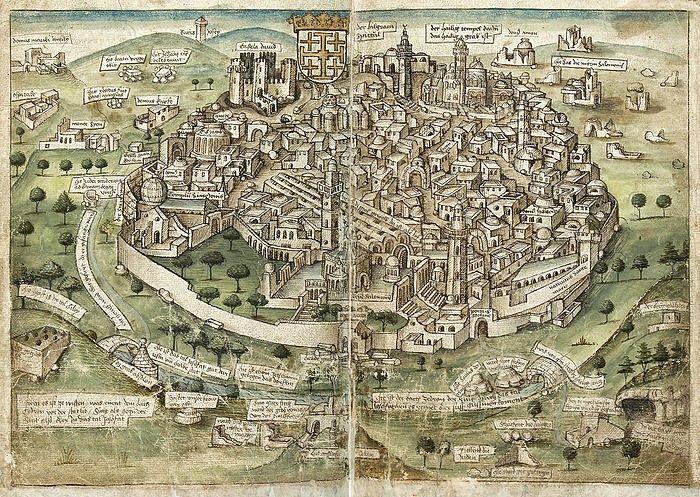 View of Jerusalem (Conrad Grünenberg, 1487)