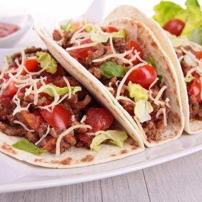 Chipotle-Inspired Ground Beef Soft Tacos