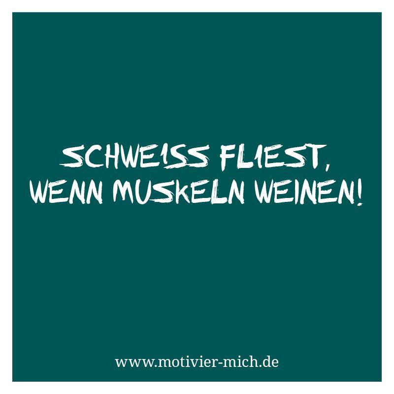 lustige sprüche sport fitness Schweiß fließt, wenn Muskeln weinen! motivation, words, spruch  lustige sprüche sport fitness