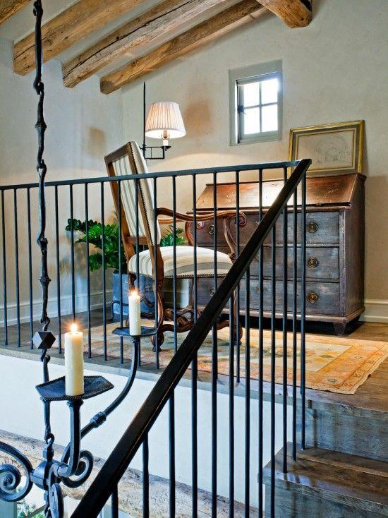 Best Simple Metal Railing Rustic Home Offices Mediterranean 640 x 480