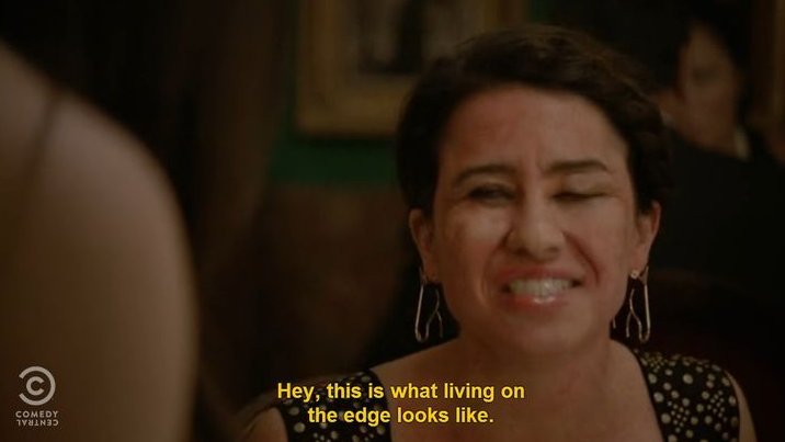 And Of Course When Ilana Was Committed To Eating Shellfish Even Though She S Allergic To It Broad City Funny Broad City Quotes Broad City