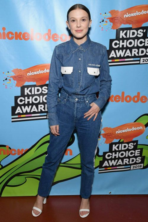 112cef4c8d86 Millie Bobby Brown at Kids' Choice Awards 2018 : Millie once again ...