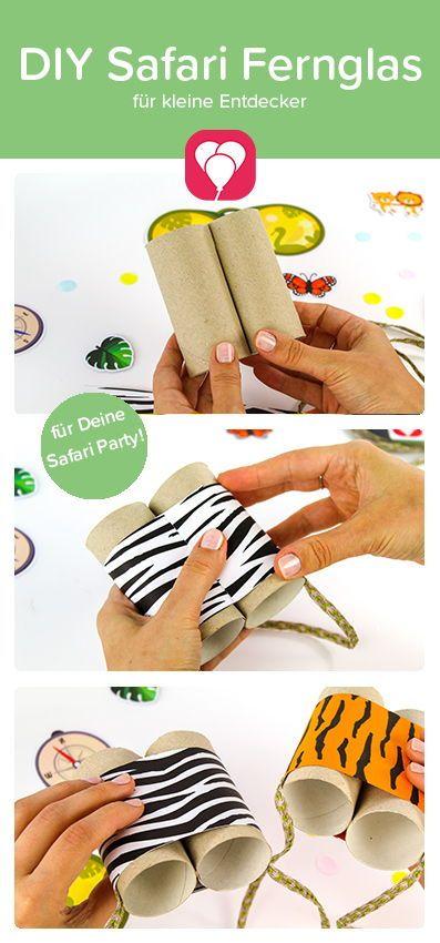 DIY Safari Fernglas basteln für den Kindergeburtstag – balloonas.com
