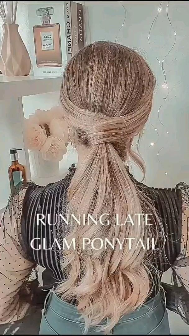 super easy ponytail hack for Summer
