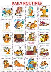 GARFIELD DAILY ROUTINES POSTER-FLASH CARDS SET,  #cards #Daily #GARFIELD #POSTERFLASH #Routines #set