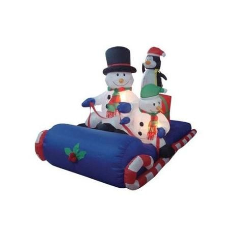 BZB Goods Christmas Inflatable Snowmen Sitting on Sled Decoration