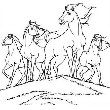 Kleurplaten Paarden Spirit.Spirit Kleurplaten Voor Kinderen Kleurplaat En Afdrukken Tekenen Nº