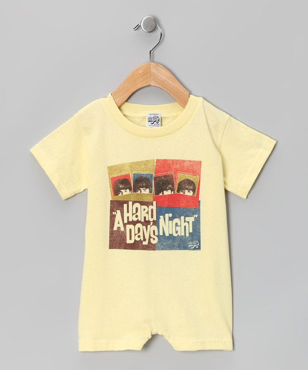 Look at this #zulilyfind! Banana 'A Hard Day's Night' Romper - Infant by The Beatles #zulilyfinds