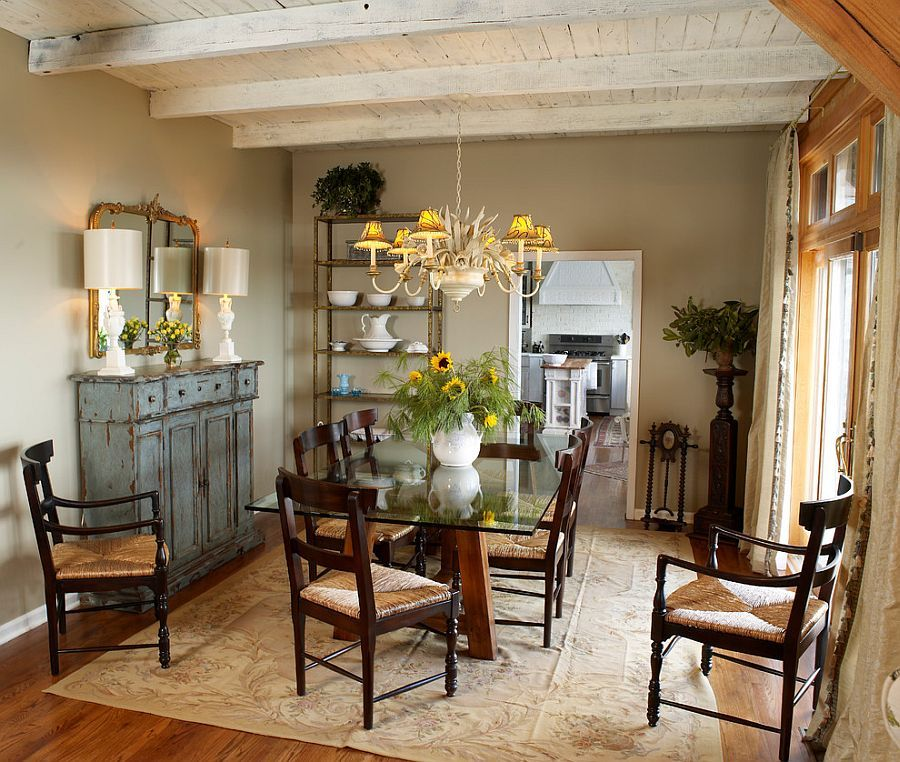 Cozy Dining Rooms: 50 Cool And Creative Shabby Chic Dining Rooms