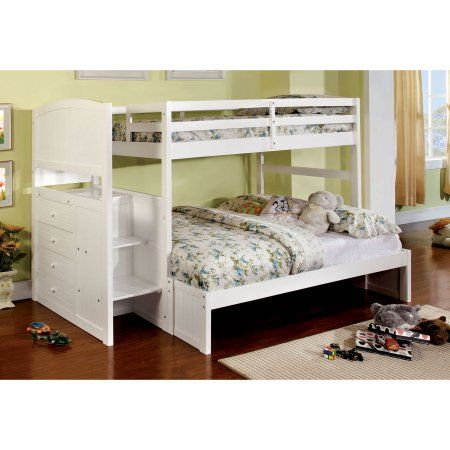 Furniture Of America Chase Twin Full Wooden Bunk Bed Multiple