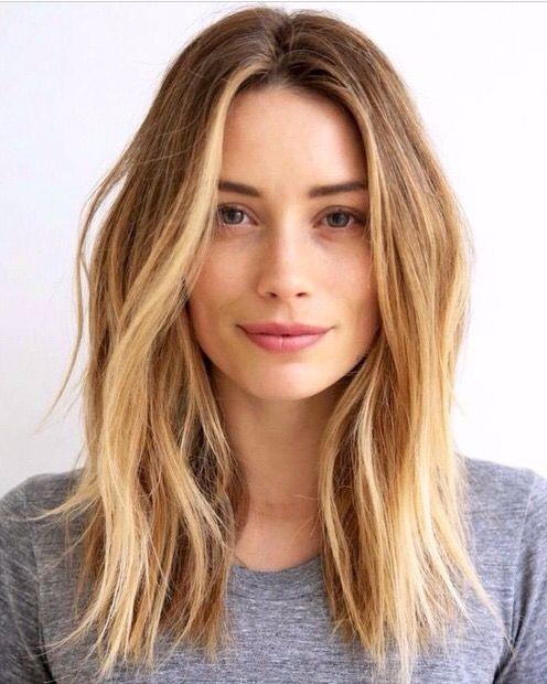 Lob Texture And Face Framing Highlights Hair Styles Medium Hair Styles Long Hair Styles