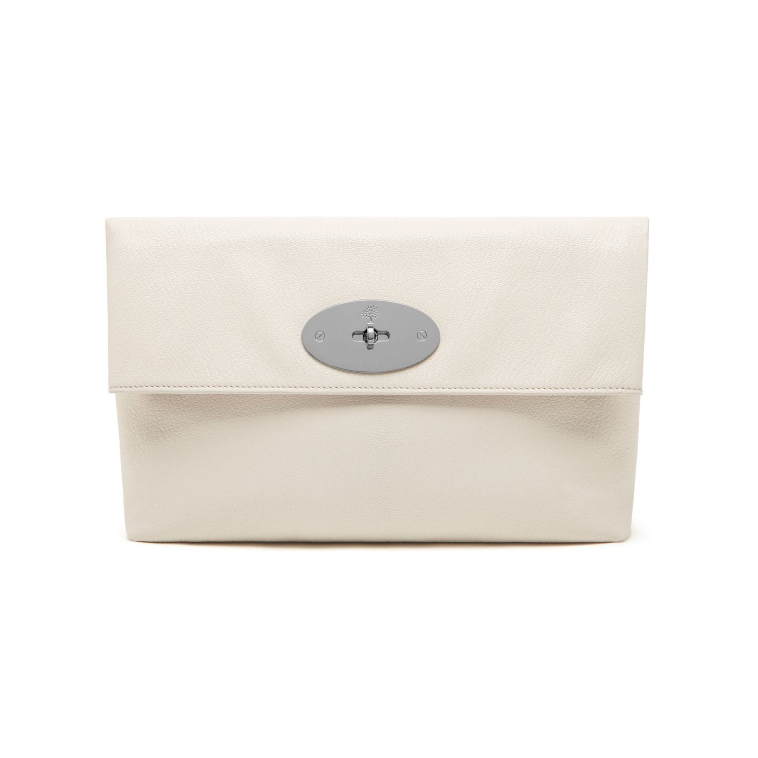 7f5a7eacde1c Clemmie Clutch Cream Glossy Goat