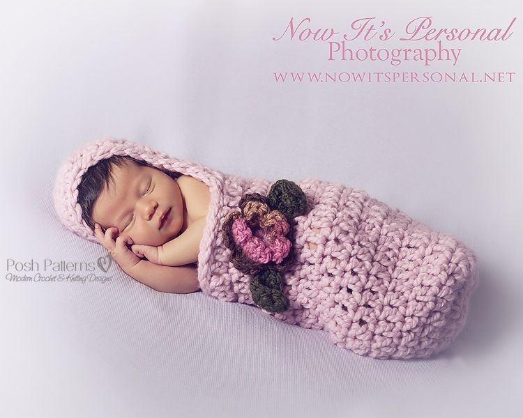 Crochet PATTERN - Newborn Hooded Cocoon Pattern | Crochet this ...
