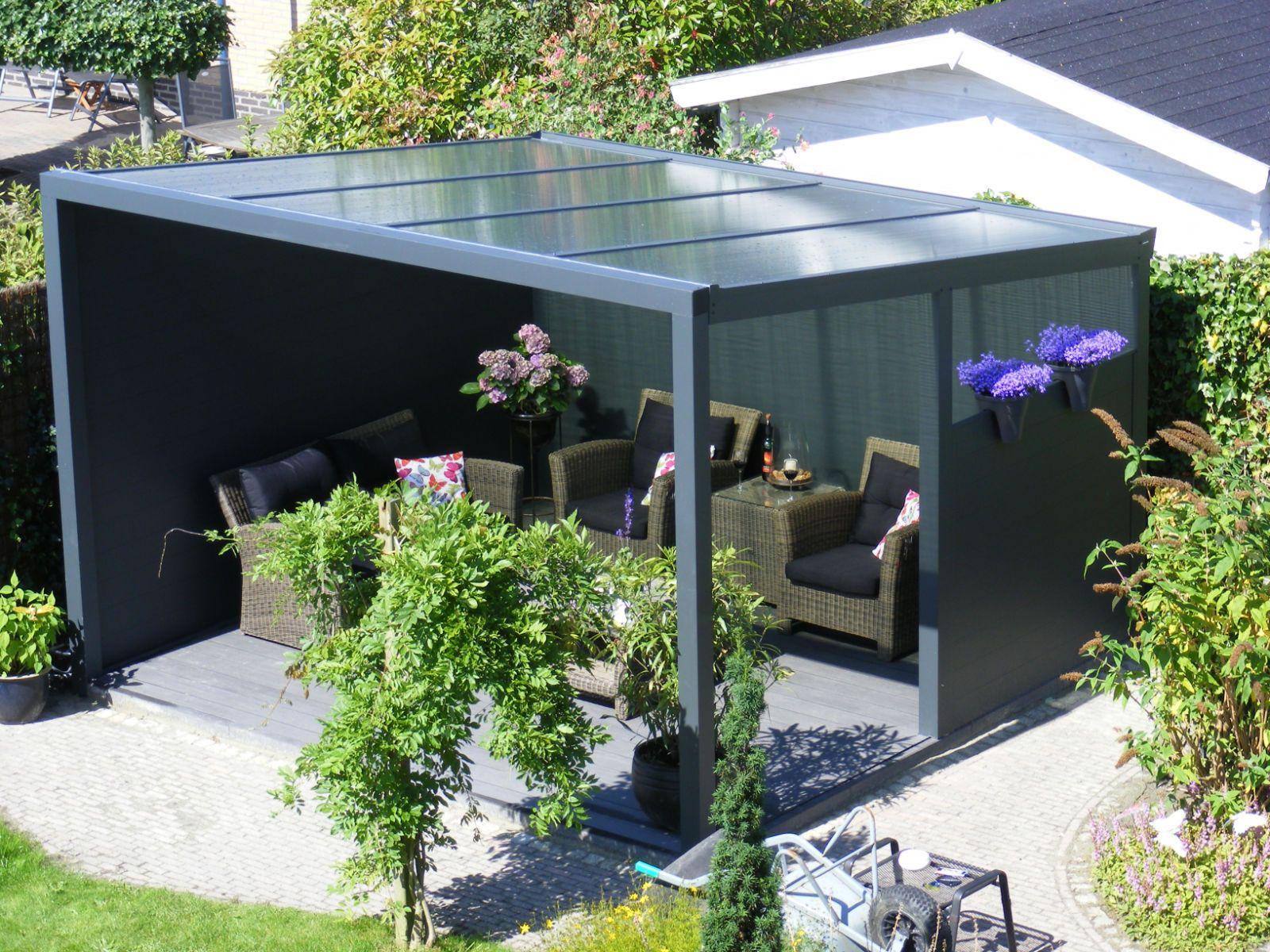 Glass Veranda Garden Canopy 2m Deep