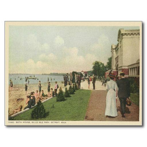 bath house detroit mi. beach and bath house, belle isle park, detroit, michigan [postcard] ~ house detroit mi b