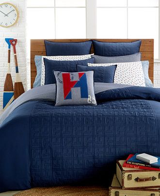 Tommy Hilfiger Academy Navy Bedding Collection Bedding Collections Bed Amp Bath Macy 39 S Tommy Hilfiger Bedding Comforter Sets Navy Bedding