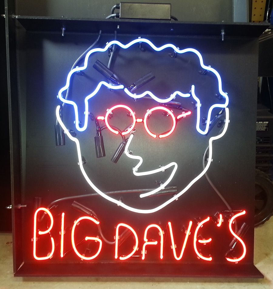 Personalized Neon Signs Captivating Big Dave's Custom #neon Bar Sign Httpwwwneonandmoreneon Inspiration