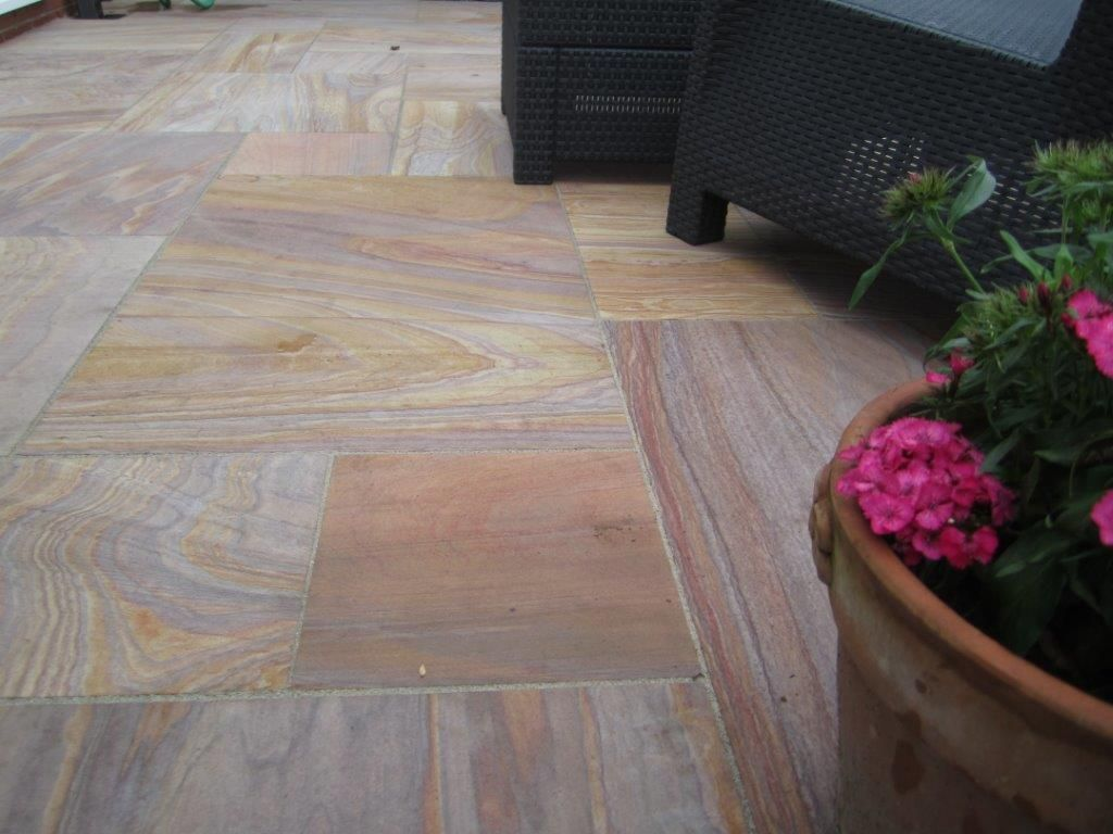 Rainbow Indian Sandstone Paving Sawn & Honed Patio Pack