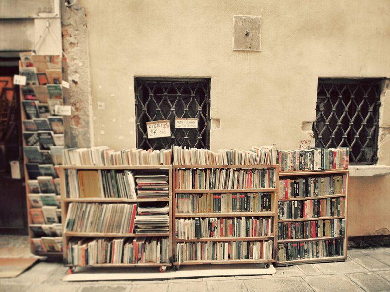 Book Shop in Venice. Fine Art Photography. Venice Italy. Library ...
