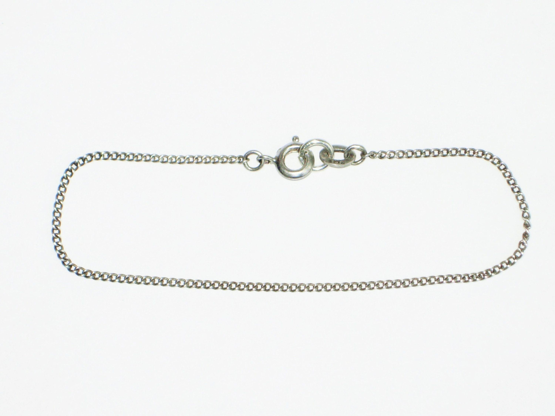 Vintage sterling silver bracelet curb chain bracelet girls