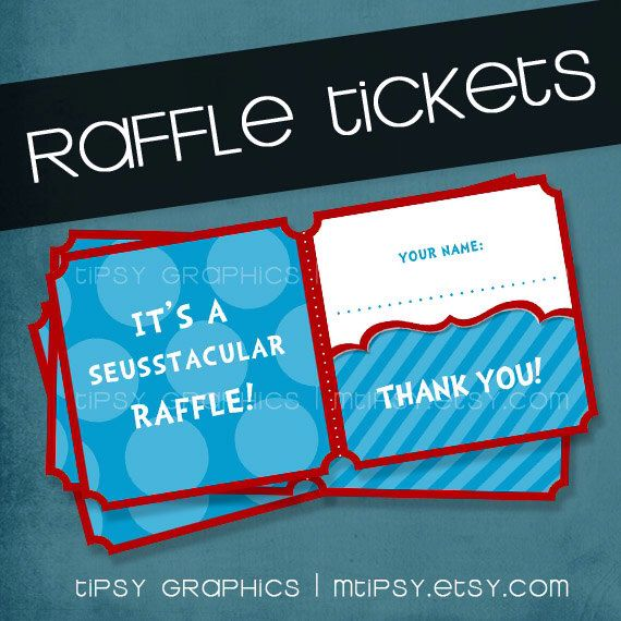 dr seuss printable diy diaper book baby shower raffle tickets tipsy graphics any colors by mtipsy on etsy