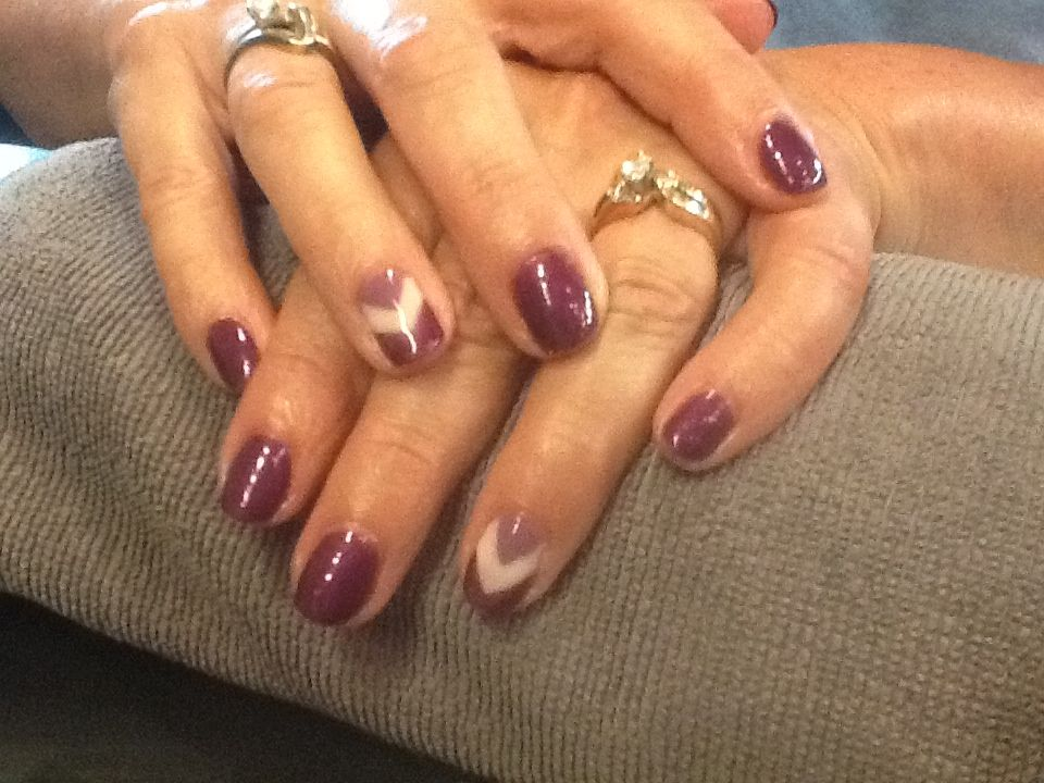 Chevron nail Chevron nails, Nail designs, Nails