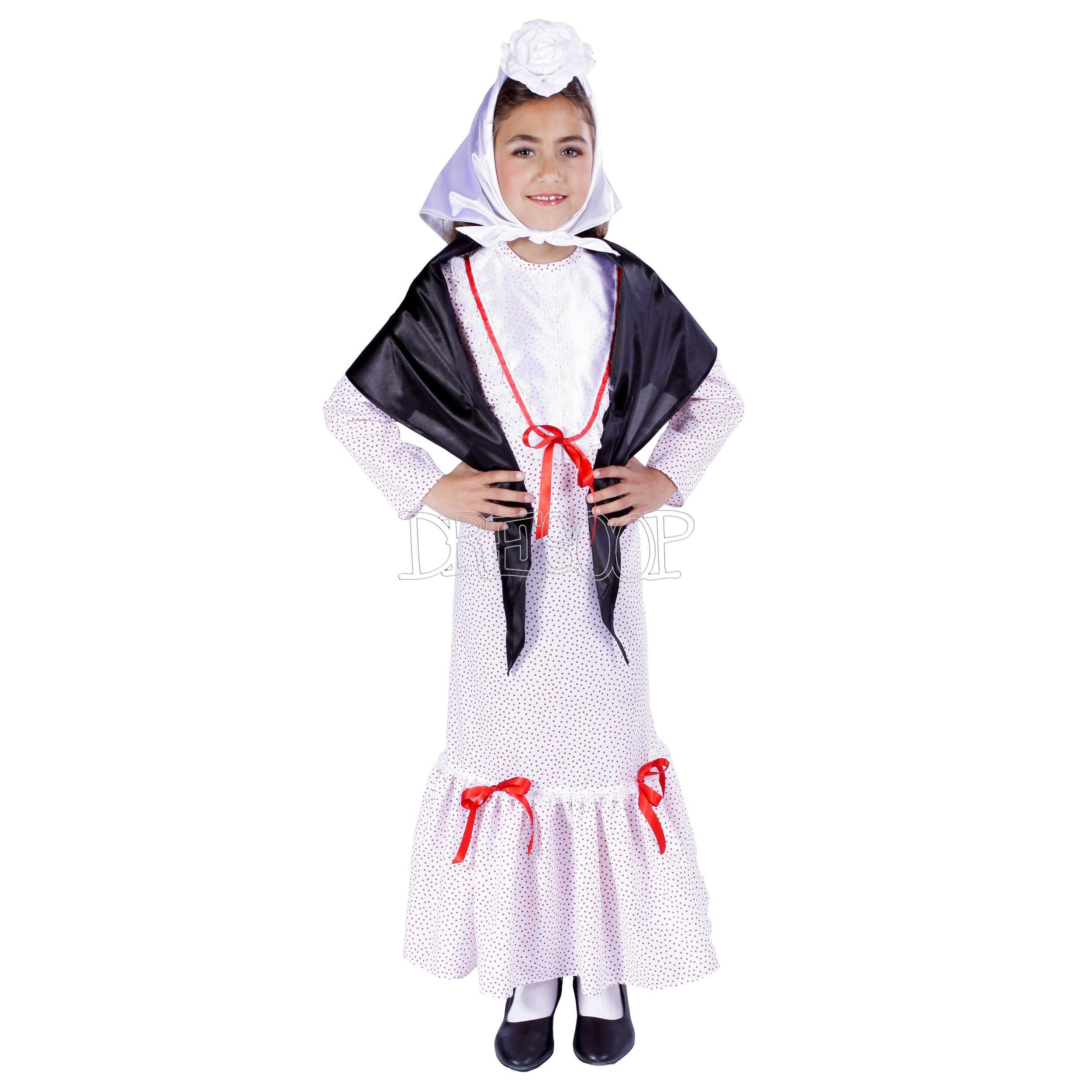 Disfraz Chulapita Con Mantón Niña Disfraz De Chinita Disfraz Disfraces