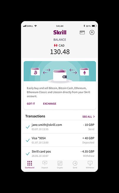 trasferire bitcoin a skrill guadagnare online senza fare niente
