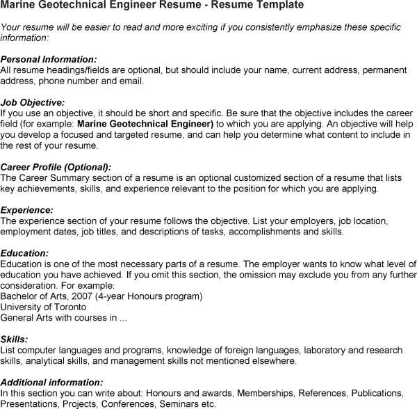 Resume Contemporary Guide The Geotechnical Engineer Cover Letter