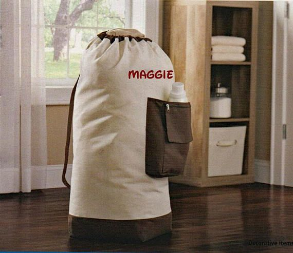 9f70ccf5ba42 Personalized laundry bag, school laundry bag, college laundry bag ...