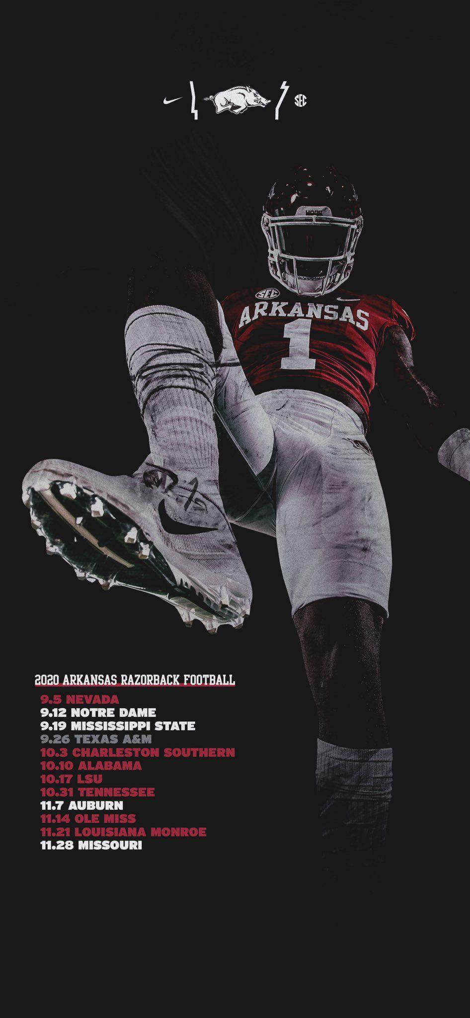 Arkansas In 2020 Arkansas Razorbacks Football Sports Graphic Design Arkansas