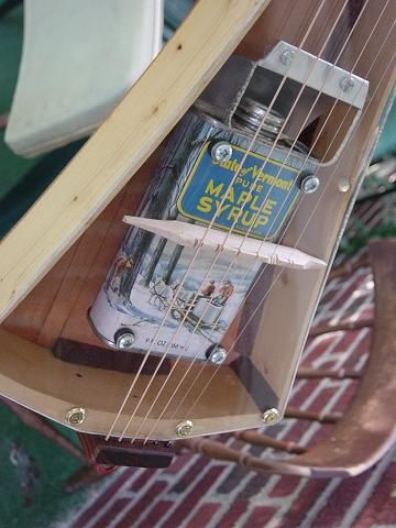 Can Resonator Plexiglass Top Travel Guitar
