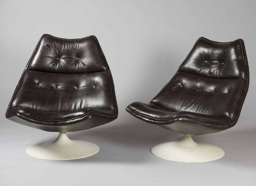 Geoffrey HARCOURT (né en 1935) - Artifort (Editeur) Paire de fauteuils de repos…