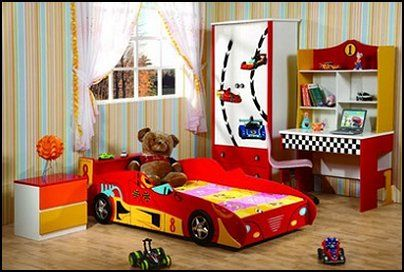 RACING CAR BED Theme Beds   Novelty Furniture   Woodworking Bed Plans    Unique Furniture