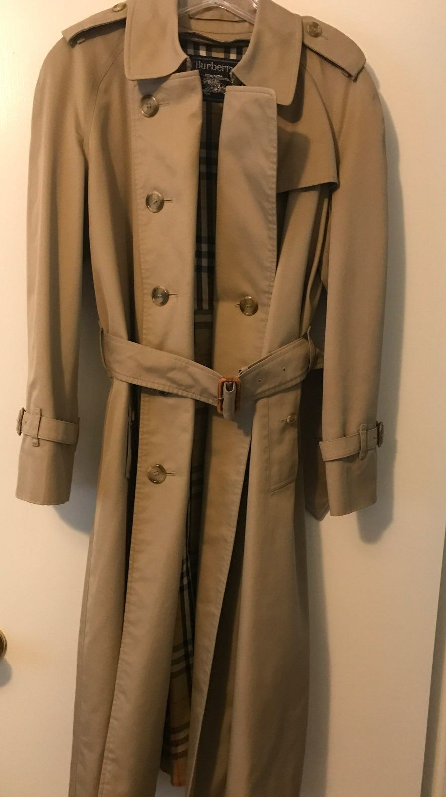 Burberrys Trench Coat No Stains Or Rips Vintage Size 14p Trench Coat Burberry Trench Coat