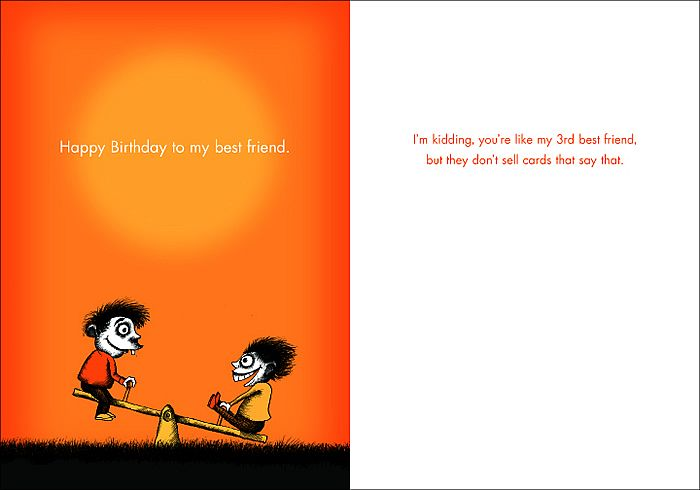 Bald Guy greetings cards awesome Happy Birthday to my Best – Funny Birthday Card Messages for Friends