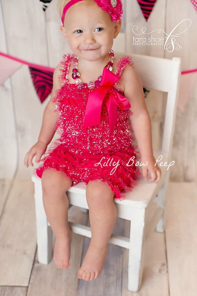 747dba10ca6b Pink Glitter Romper - Baby Girl Clothes-Baby Girl-Valentines Day ...