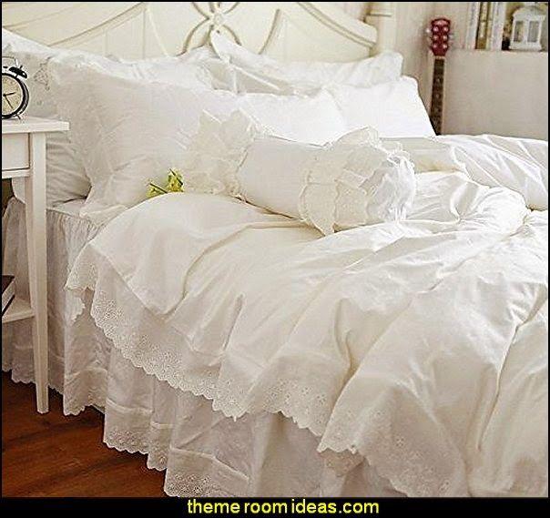 White Lace Bedding Sets Snow White Bedding Set Victorian