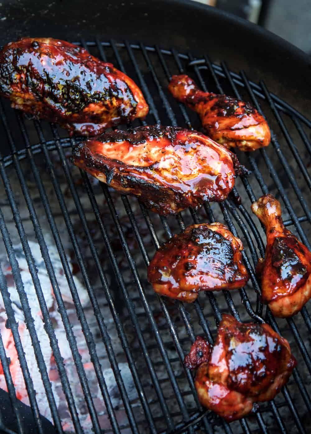 Grilled chicken with blackberry bbq sauce recipe