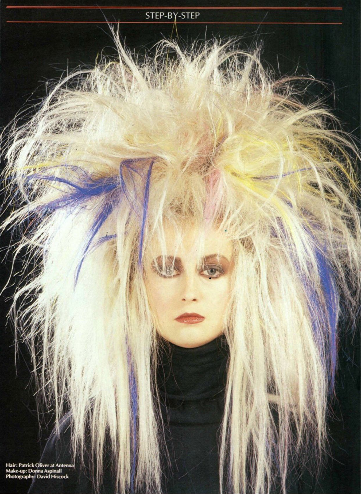 Classic Punk Look From The 80s Using Dome Monofibre Extensions