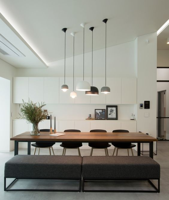 Select basic neutral or contrasting shades such as this design diningroomtable diningroomfurniture diningroomcabinet diningroomlight also modern dining room minimalist  table new rh pinterest