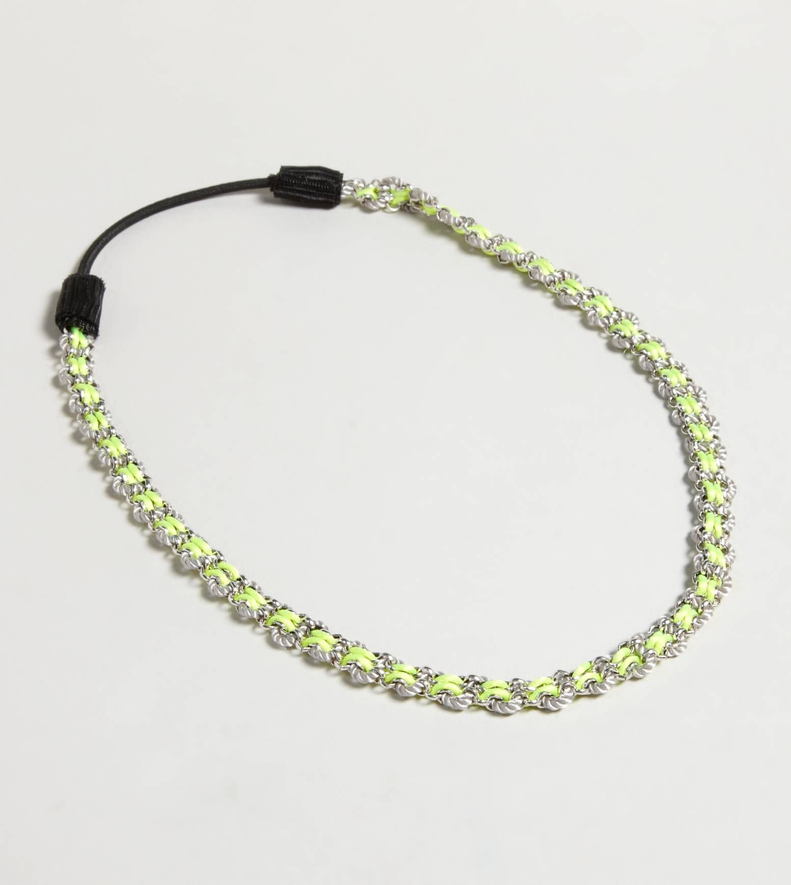 AEO Neon Chain Headwrap  All chained up.  Steel, Silk, Cotton