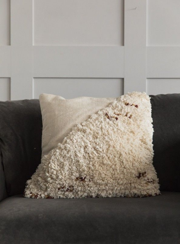 Textured Fringed Cushion  Off White is part of White Home Accessories Texture - 50cm x 50cm  Cotton viscose Weight 1 8kg