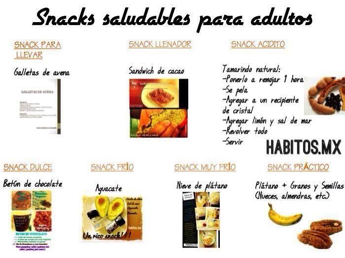 Snacks para adultos.