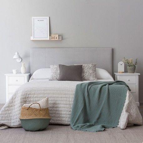 Nyssel cabecero gris dormitorio decoracion habitacion for Decoracion de habitaciones de matrimonio en blanco